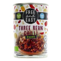 Free & Easy Organic Three Bean Chilli 400g